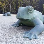 倉吉にカエルの像を見に行ってきました。
